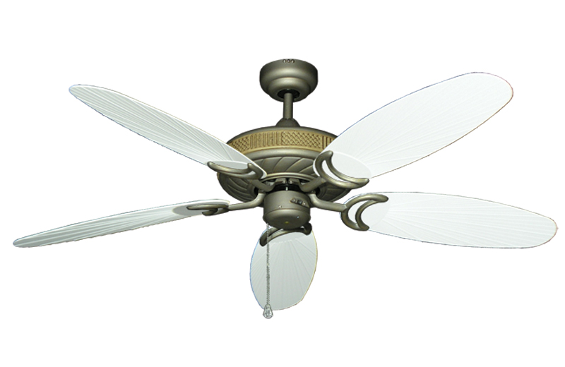 Antlantis In Antique Bronze With 52 Outdoo Tan Leaf Blades