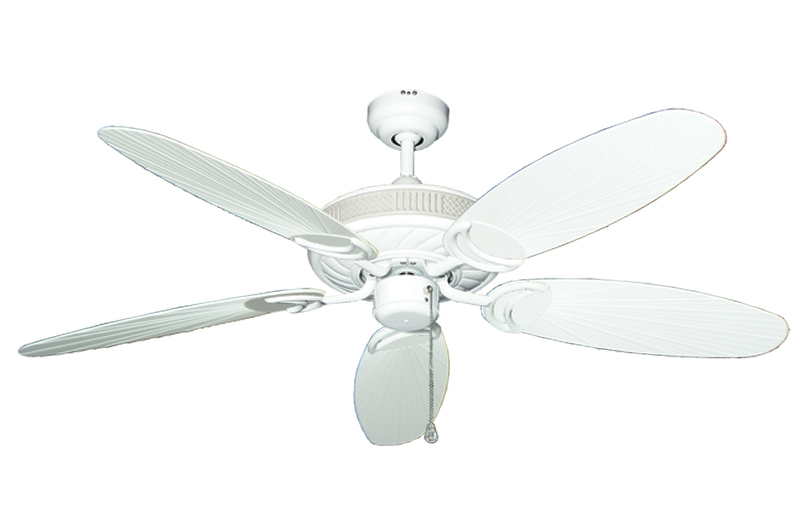 52 inch atlantis outdoor ceiling fan with leaf or wicker blades antlantis in pure white with 52 outdoo pure white leaf blades aloadofball Image collections
