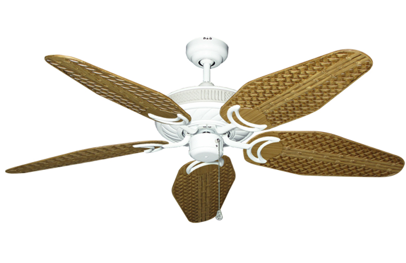 antlantis in pure white with 52 outdoo tan weave blades