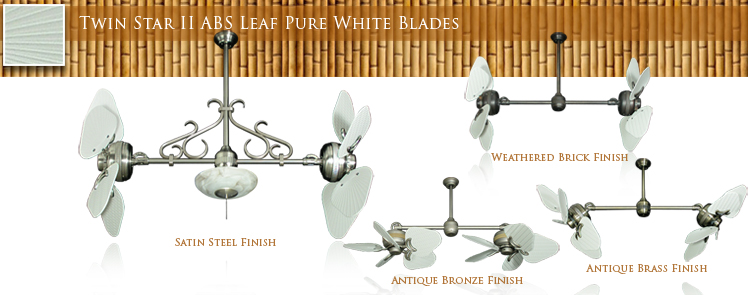 Twin Star II ABS Leaf Pure White Blades