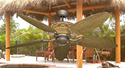 Tiki Oudoor Ceiling Fan