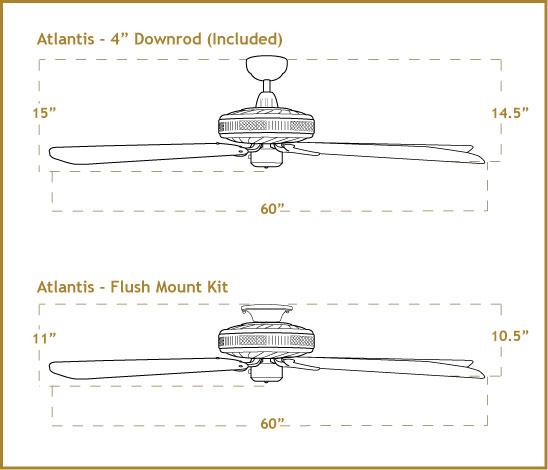 60 Inch Atlantis Outdoor Ceiling Fan