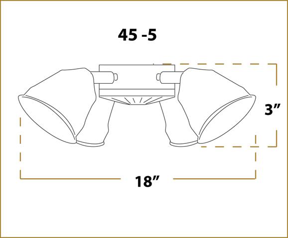 Ceiling Fan Light - 45 Fitter - Dimensions
