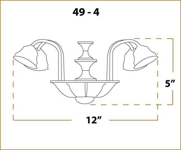 Ceiling Fan Light - 49 Fitter - Dimensions