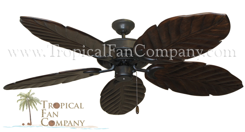 Raindance Ceiling Fan with 100 Arbor Blades in Walnut Finish