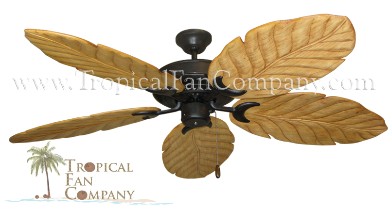 Raindance Abor Ceiling Fan with 100 Arbor Blades in Maple Finish