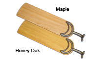 56 inch sweep blades in honey oak or maple