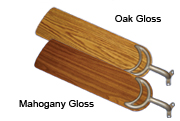 44 inch Sweep Oak or Mahogany Gloss Blades