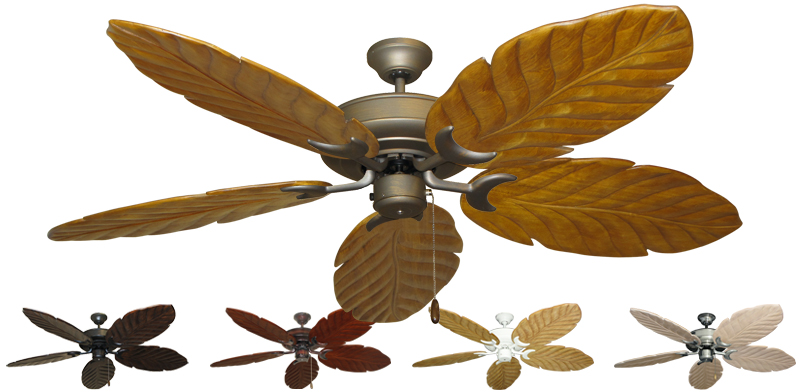 58 Inch Raindance Large Tropical Ceiling Fan With Arbor 100 Blades