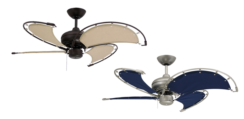 Indoor Outdoor Ceiling Fan #27: Troposair Voyage Ceiling Fan Nautical Design With 40 Inch Sail