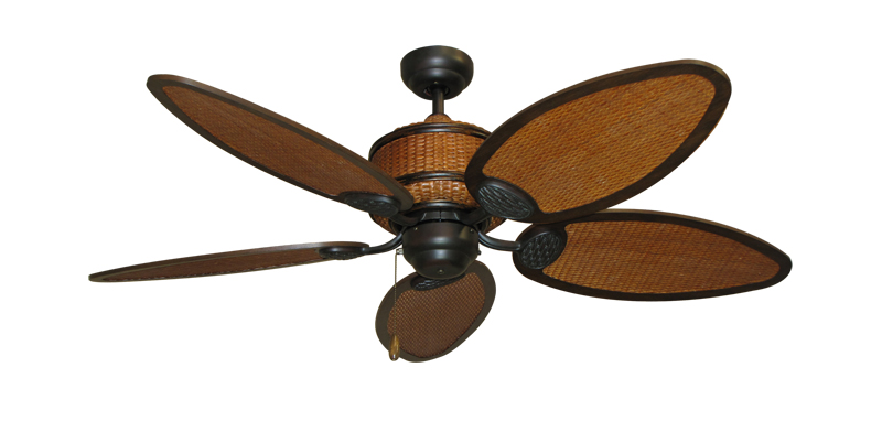 Tropical Ceiling Fans : Inch cane isle tropical ceiling fan
