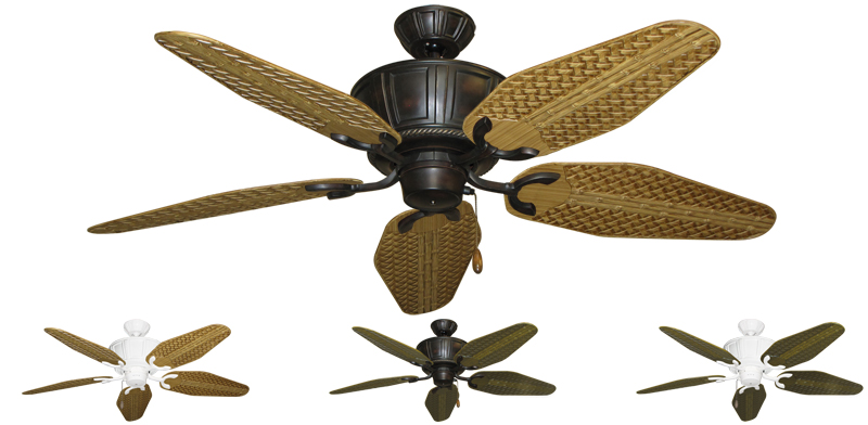 Tropical Ceiling Fans : Inch centurion outdoor tropical ceiling fan weave blades