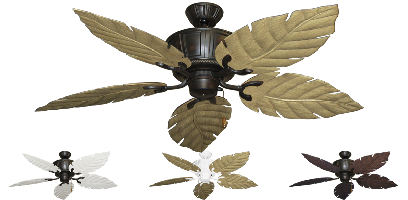 52 Inch Centurion Outdoor Tropical Ceiling Fan Venetian