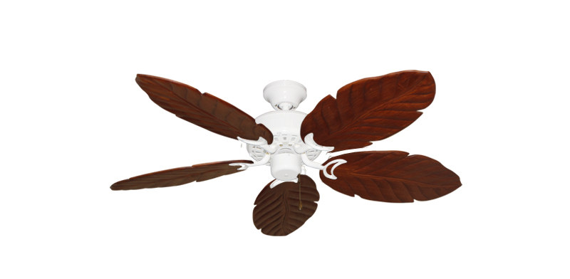 42 Dixie Belle Pure White Tropical Ceiling Fan With Arbor 150 Cherry Blades