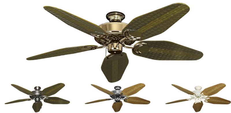 52 Inch Dixie Belle Tropical Ceiling Fan Weave Blades