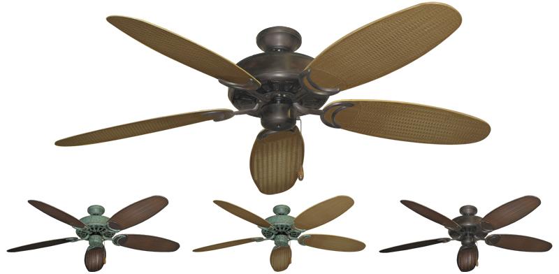 52 Inch Dixie Belle Outdoor Tropical Ceiling Fan Leaf