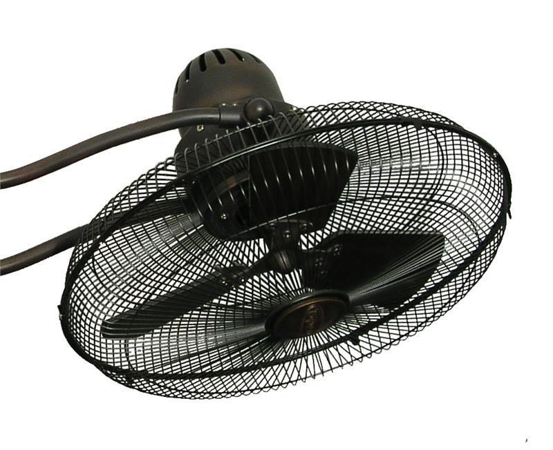 Troposair 15 inch duet oscillating dual motor ceiling fan for Dual motor ceiling fan
