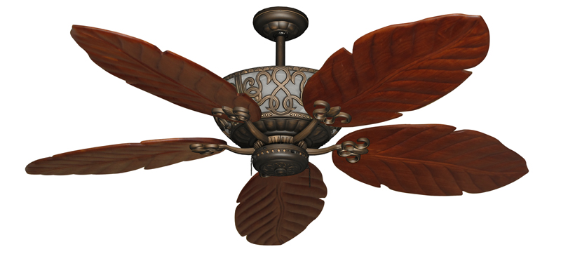 light with leaf ceiling fan blade design
