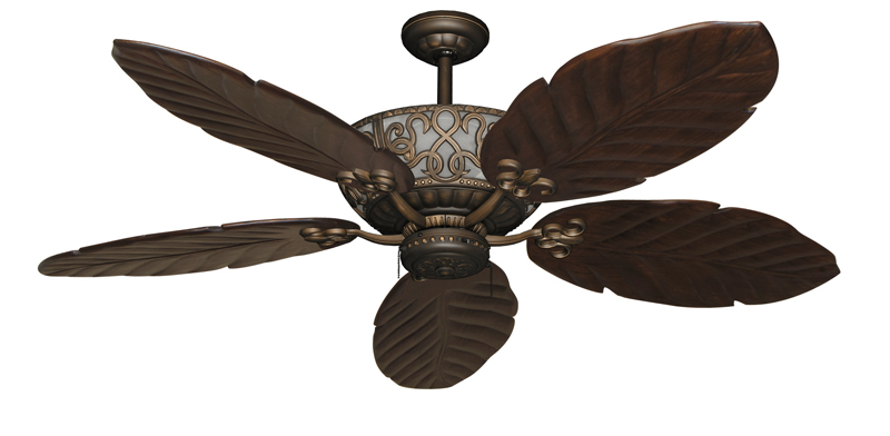 58 inch excalibur large ceiling fan with arbor 100 blades and integrated up light - Leaf blade ceiling fan with light ...