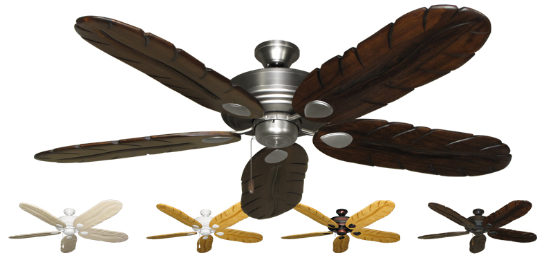 Tropical Ceiling Fans : Inch futura tropical ceiling fan with arbor blades