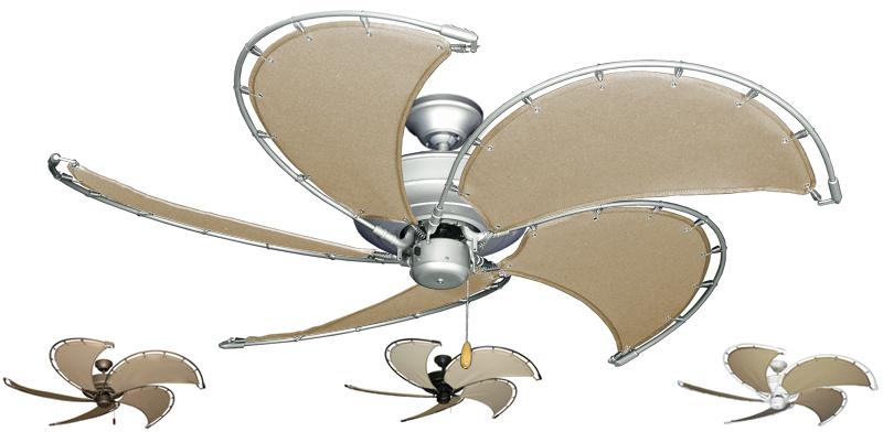 Nautical Raindance Ceiling Fan 52 Kahki Canvas Bladeson Ceiling Fan ...