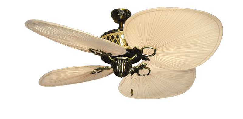 Tropical Ceiling Fans : Inch palm bay tropical ceiling fan natural blades