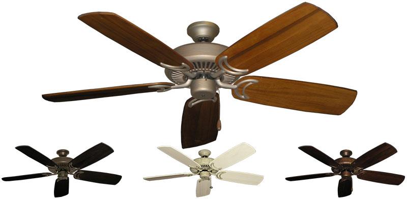 52 Inch Riviera Indoor Ceiling Fan Arbor 425 Solid Wood
