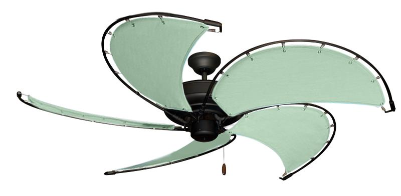 52 Inch Raindance Nautical Ceiling Fan Sunbrella Sea