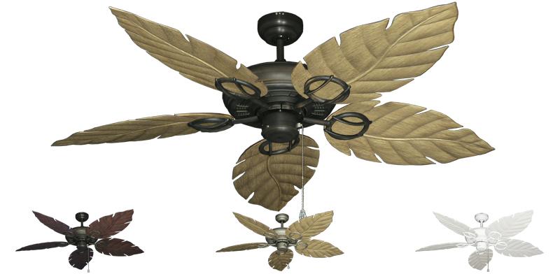 52 Inch Trinidad Outdoor Tropical Ceiling Fan Sweep