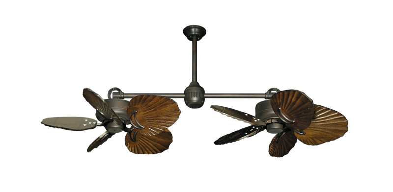 35 Inch Double Twin Star Iii Tropical Ceiling Fan With Arbor 600 Blades