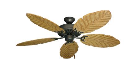52 Inch Bimini Breeze Tropical Ceiling Fan Leaf Arbor