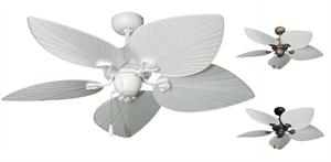 42 Inch Bombay Tropical Ceiling Fan With Pure White Blades