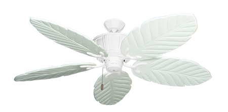 Centurion Pure White Tropical Ceiling Fan with Arbor 100 Pure White Blades