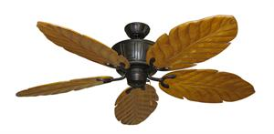 Centurion Weathered Brick Tropical Ceiling Fan with Arbor 100 Oak Blades