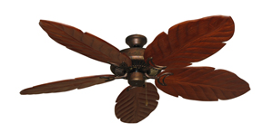 Riviera Burnished Copper Tropical Ceiling Fan with Arbor 100 Cherry Blades