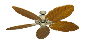 Riviera Roman Stone Tropical Ceiling Fan with Arbor 100 Oak Blades