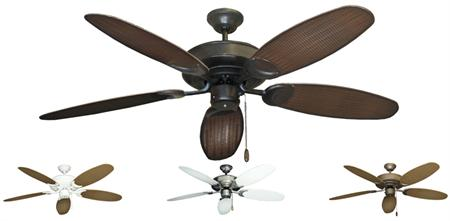 52 inch raindance outdoor tropical ceiling fan with wicker leaf blades