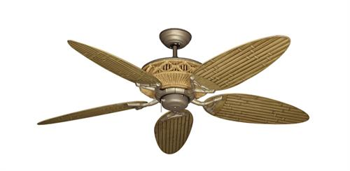Tiki Outdoor Tropical Ceiling Fan w/ 52