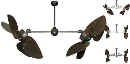 50 Inch Twin Star Iii Double Ceiling Fan Bombay Oil Rubbed Bronze Blades