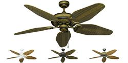 Atlantis Outdoor Tropical Ceiling Fan w/ 52