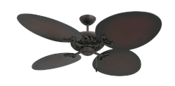 Corsica 54 inch  Ceiling Fan in Oil Rubbed Bronze - Distressed Walnut