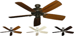 52 inch Dixie Belle Traditional Ceiling Fan Arbor 425 - Hand Crafted Blades