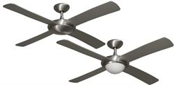 Gulf Coast - Luna Modern Ceiling Fan Brushed Aluminum w/ 52