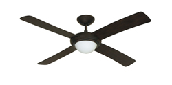 Luna Weathered Brick Modern Ceiling Fan