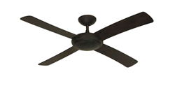 Luna Weathered Brick Modern Ceiling Fan - No Light - Eclipse