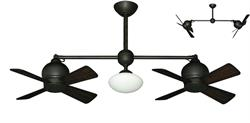 24 inch Metropolitan Double Ceiling Fan - Oil Rubbed Bronze