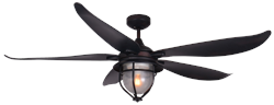 59 inch St. Augustine Oil Rubbed Bronze Ceiling Fan by TroposAir