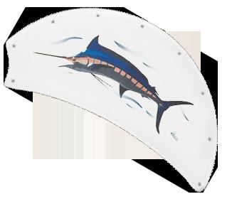 52 Inch Raindance Nautical Ceiling Fan Fish Canvas Blades