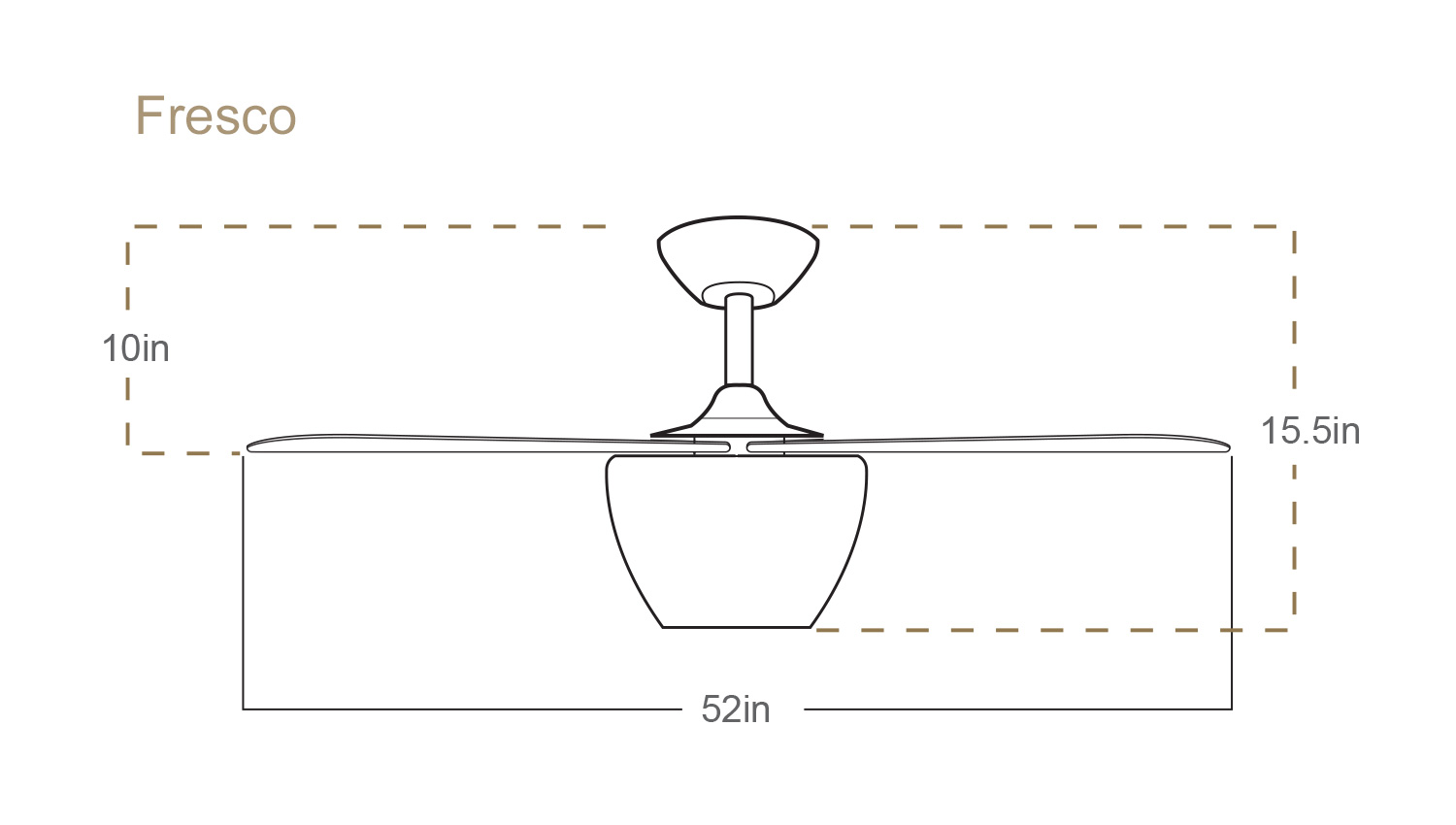 Fresco Ceiling Fan Dimensions
