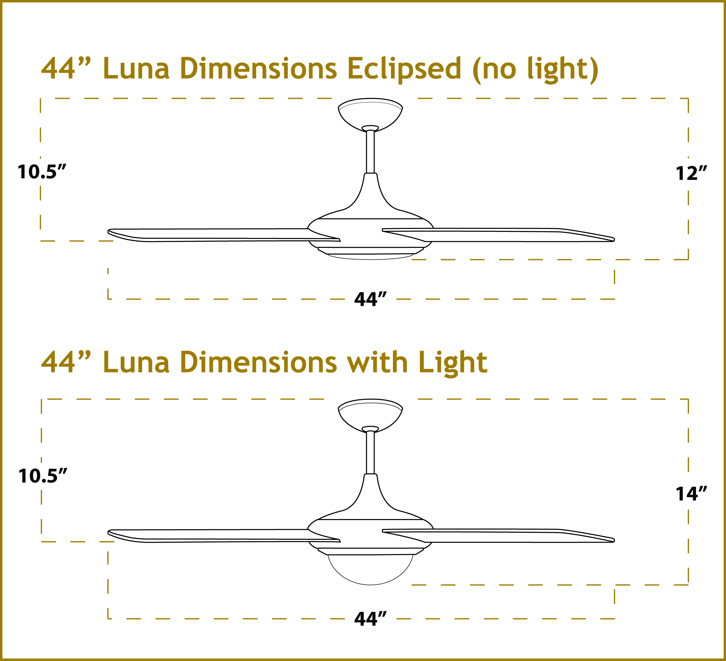 44 inch luna modern ceiling fan brushed aluminum luna ceiling fan dimensions aloadofball Image collections